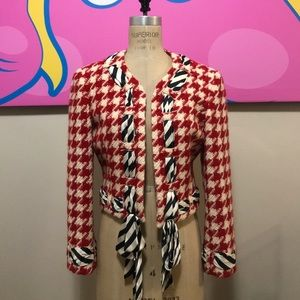 Moschino Cheap & Chic Red Houndstooth Jacket